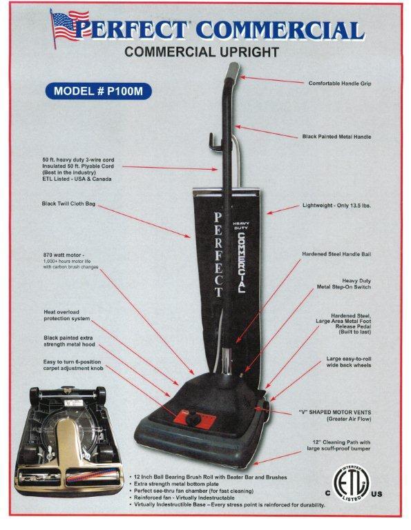 Perfect 12 Inch Lightweight Upright Vacuum